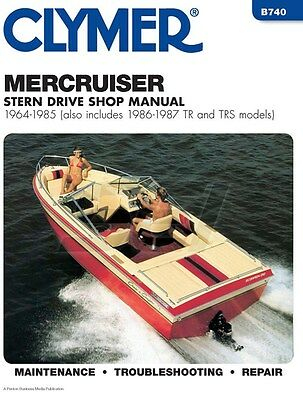 Clymer Mercruiser Sterndrive Shop Manual 1964-1985 1986-1987
