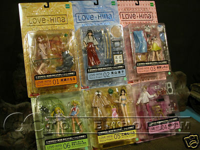 """VERY RARE & LONG SOLD OUT!   Love Hina """"Skyluv Project #5"""" SIX Figure Set MINT!!"""