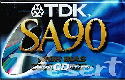 1 TDK SA90 Audio Cassette High Bias Ultimate Performance (Unopened)