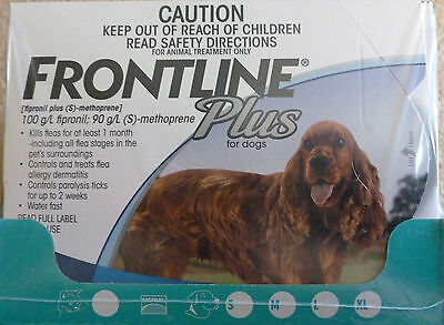 Merial Frontline Plus 6 Pack For Medium Dogs 23 - 44 lbs - FAST Shipping!