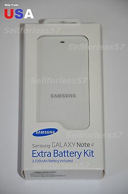 Samsung Galaxy Note 4 Genuine Charger Kit Include Extra Battery EB-KN910BWEGWW