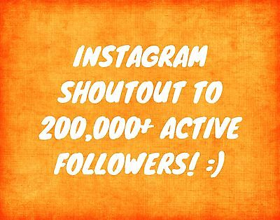 Instagram Shoutout/Advertising To 200k+ (24 Hrs)