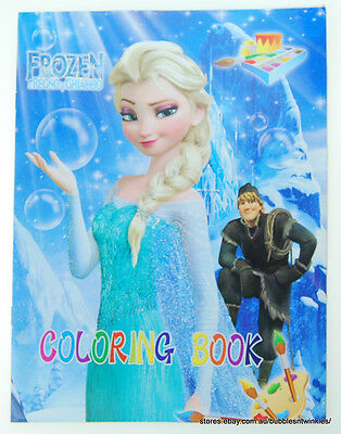 FROZEN COLOURING BOOK 16 pages with stickers Great fun for kids