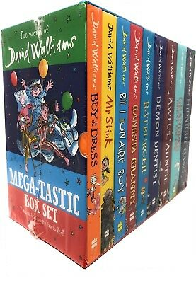 The World of David Walliams Mega-tastic 9 Books Collection Box Set Midnight Gang