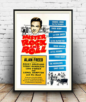 Mr Rock & Roll, Alan Freed  . vintage Music film advert  poster reproduction.