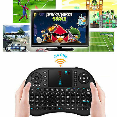 Hot! Rii mini i8 Black Wireless Keyboard  with Touchpad for smart  TV PC