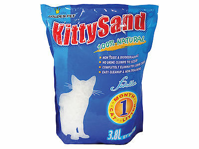 Cat Kitten Litter Natural Silica Sand Gel 30.4 litre = 8 Months Supply CL8170B