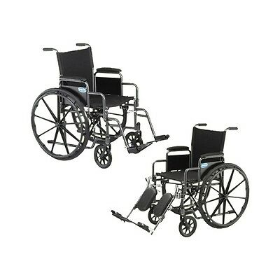 """New Invacare 18"""" Manual Wheelchair, Foldable, Lightweight. Choice of Footrests!"""
