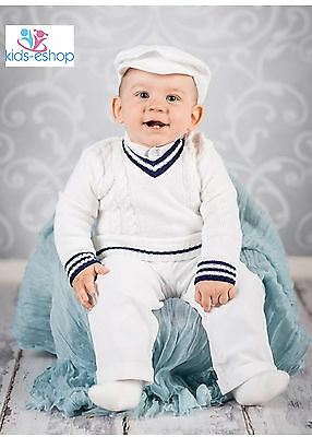 Baby Boy Toddler White Sailor Smart Outfit Christening Wedding Formal Party