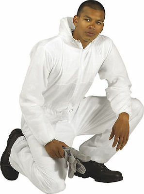 Quality Disposable Coverall Hood & Elastic Wrists Spray Suits / Painters