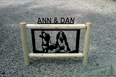 DOGS-LOG SIGNS-BASSET HOUNDS-PETS-PET GIFTS