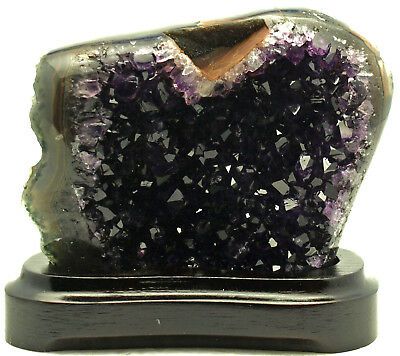 Deep Purple 1 lb 1 oz Amethyst DRUZY 4.5 x 4 x 1.5 Display Geode  AMY099