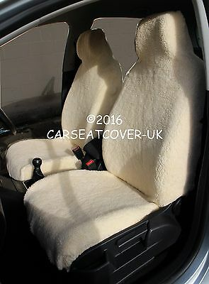 Sheepskin Luxury Faux Fur Car Seat Covers - Front Pair- Universal Fit