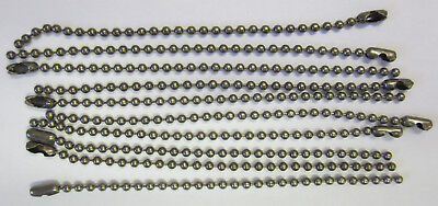 10 x 10cm Ball Chain & Connector Black Nickle,Scrapbooking,Key Chains,Jewellery