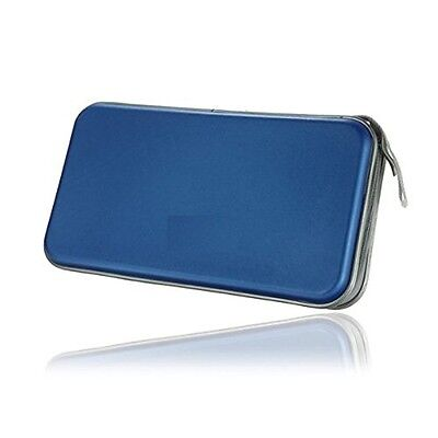 80 CD DVD Carry Case Disc Storage Holder CD Sleeve Wallet Ideal for In Car BLUE