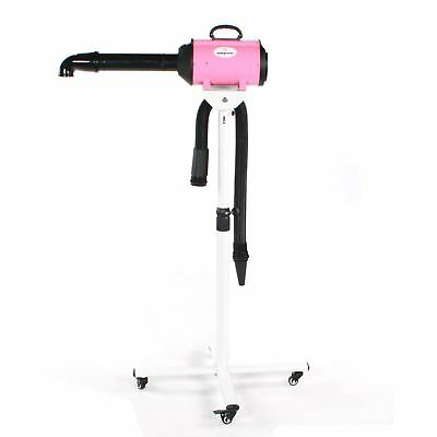 Pedigroom dog grooming mobile portable pet fur dryer + stand blaster heater pink