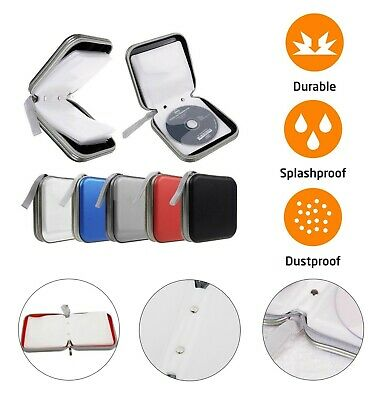 40 CD DVD Carry Case Cover Disc Storage Holder CD Sleeve Wallet Ideal for In Car