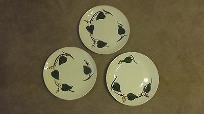 Blue Ridge Southern Pottery Skyline Stanhouse Ivy  3  diner Plates green leaves
