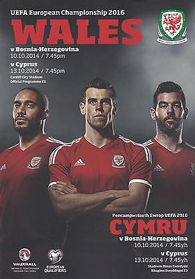 WALES v BOSNIA & v CYPRUS (10th & 13th OCTOBER 2014) - EUROPEAN QUALIFIERS