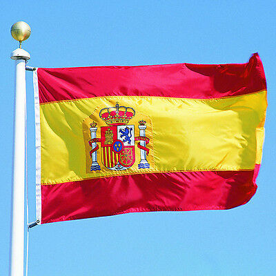 New large 3'x5' Spanish flag the Spain National Flag ESP GOCG