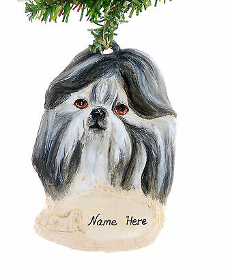 Christmas Ornament Shih Tzu Personalized with your choice of name & year (D301)
