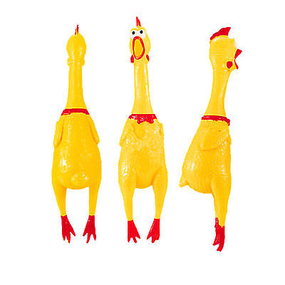 Hi Small Screaming Rubber Chicken Squeaky Pet Bulk Tough Dog Chew Treat Toy Gift