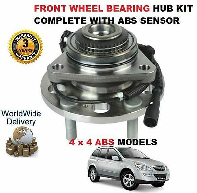 For Ssangyong Kyron 2.0 Td 2006> New Front Wheel Bearing Hub Kit With Abs Sensor