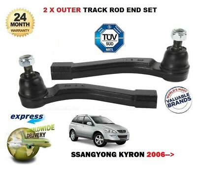 FOR SSANGYONG KYRON 2.0 TD 2006-> 2x OUTER LEFT & RIGHT TRACK TIE ROD END SET