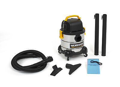 WORKSHOP Wet Dry Vacs WS0400SS 4-Gallon Stainless Steel Portable Wet Dry Vacuum