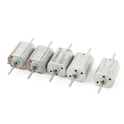 5pcs 12V 13500 RPM Double Axle Soldering 2Pin Micro Magnetic Electric DC Motor