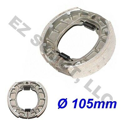 REAR DRUM BRAKE SHOE PAD 105mm GY6 4STROKE CHINESE SCOOTER 139QMB JONWAY KAZUMA