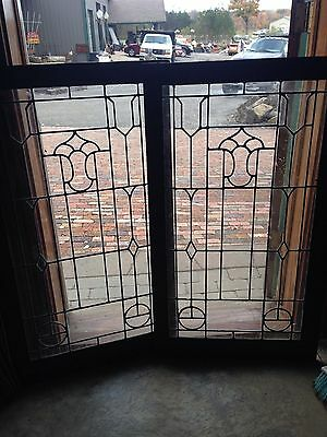 Sg 32 Matched Pair Cabinet Doors Antique 24 X 48