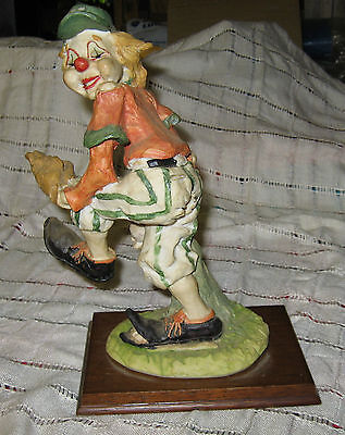 Vintage Baseball Pitcher Clown Figurine - 10 Inches Tall