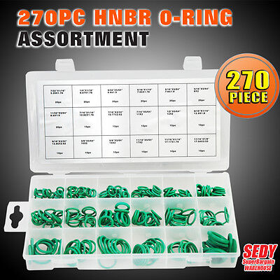 New 270 Pcs Green Rubber Universal Series Industrial O-Ring Assortment Sdy-19007