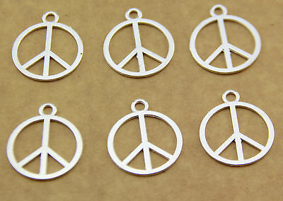 Free shipping hot 10pcs peace sign alloy jewelry pendant new