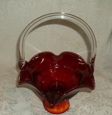 Red Ruby Ware Candy/Condiment bowl