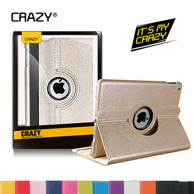 360° Rotate Stand Smart PU Leather Case Cover for Apple iPad Air 2