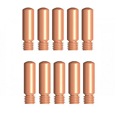 MIG Contact Tips - TWECO #1 Style - 0.8 mm - 10 pack - LONG LIFE -11-30