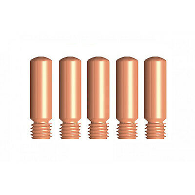 MIG Contact Tips - TWECO #1 Style - 0.8 mm - 5 pack - LONG LIFE -11-30
