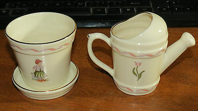 """2 pcs Schmid """"Playtime"""" Watering Can / Flower Pot"""