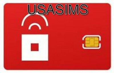 Us Usa Red Pocket 3/4G Genuine Nano Sim Card For Any Phone Unlimited Or Payasugo