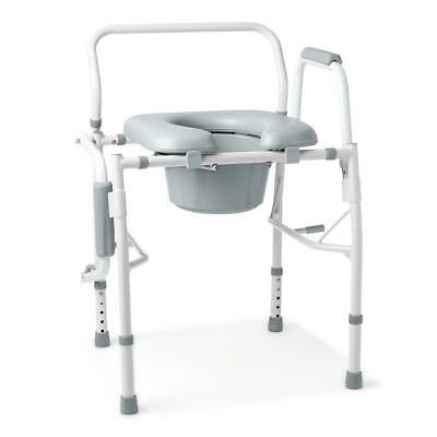 Medline G98204 Padded Luxury Drop Arm Commode