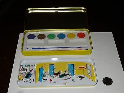 Curious George Paint Tin New Schylling Watercolor Water Color w/ brush