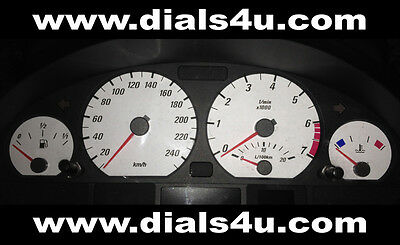 BMW 3 SERIES E46 (1998-2006) - 240km/h (Petrol or Diesel) - WHITE DIAL KIT