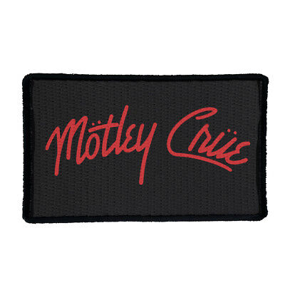 MOTLEY CRUE Embroidered Rock Band Iron On or Sew On Patch UK SELLER Patches