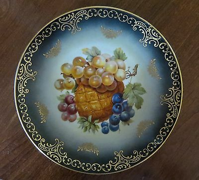 "mitterteich bavaria dessert plate 7.5"" hand painted fruit design"