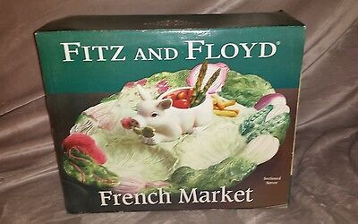 Fitz And Floyd Hog Serving Trey, New In The Box!!!