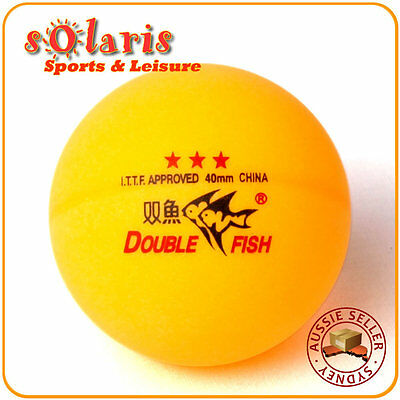6x Genuine Double Fish Orange 40mm 3-Star Table Tennis Balls ITTF Approved