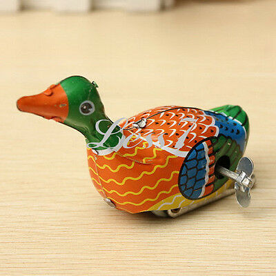 Retro Vintage Clockwork Wind Up Metal Floating Duck Goose Collectable Tin Toys