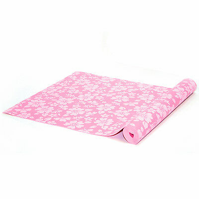 Bremshey Exercise Yoga Mat Pink with Floral Print - 3mm